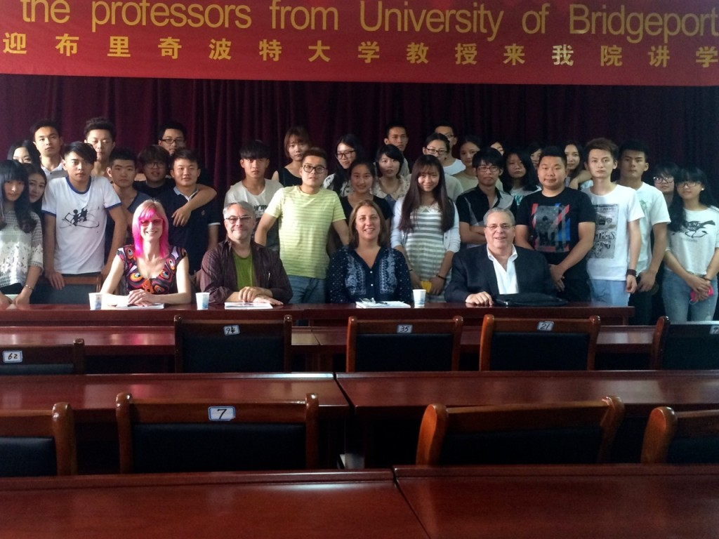 Unhui students with SASD at UB faculty — UB President Neil Salonen dropped by! (front right)